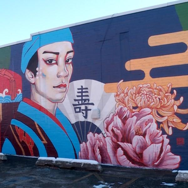 """The Medicine Peddler"" mural by Juuri"