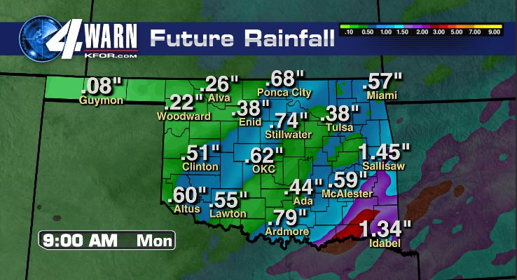 Weekend Rain Totals