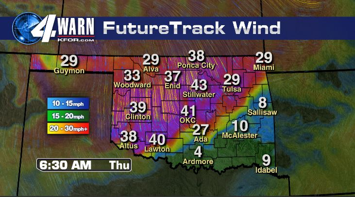 High Winds Thursday and Friday