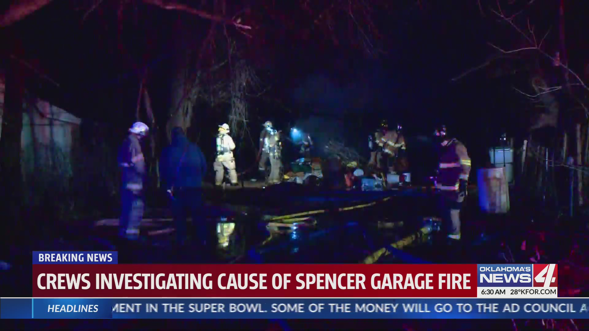 Spencer garage fire