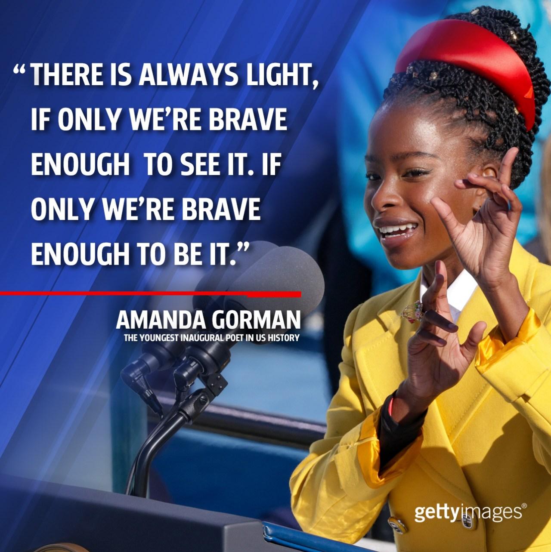 Inaugural poet Amanda Gorman: 'Even as we grieved, we grew'
