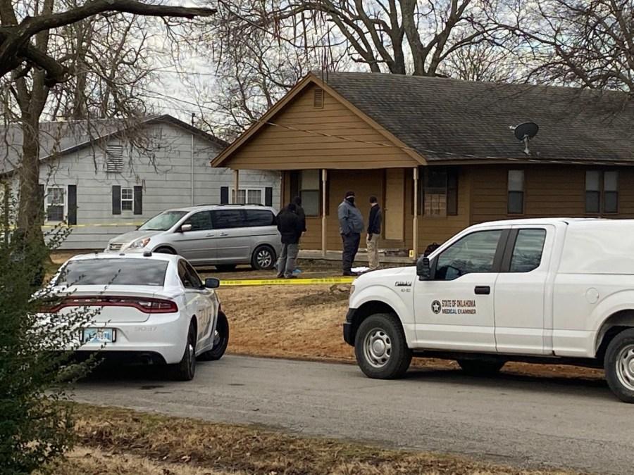 image of homicide scene