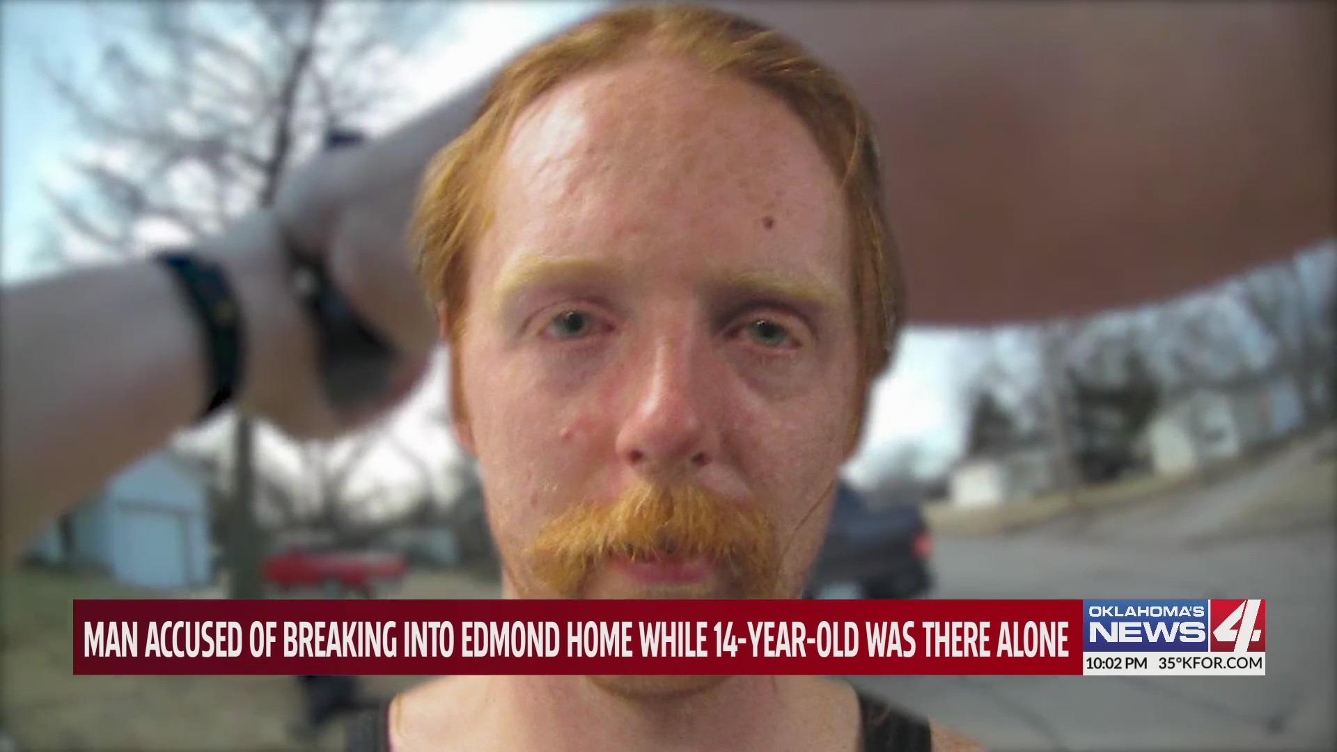I Was Shaking 14 Year Old Home Alone In Edmond When Alleged Drunk Burglar Busts Through Window Kfor Com Oklahoma City