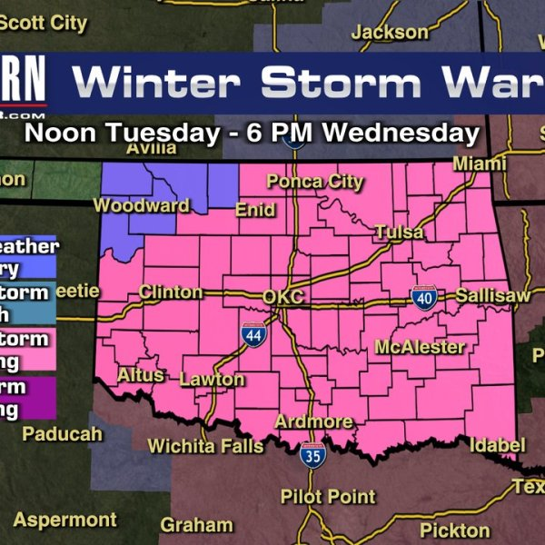 map of the winter storm warning