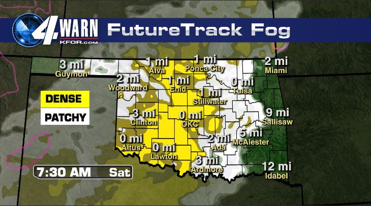 Fog Friday Night Through Saturday Morning