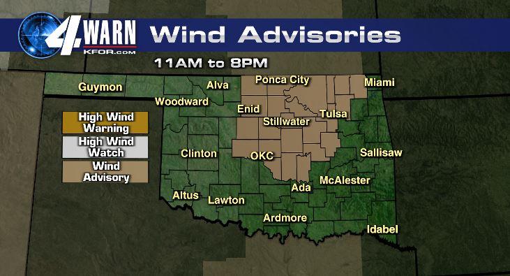 Wind Advisory Tuesday