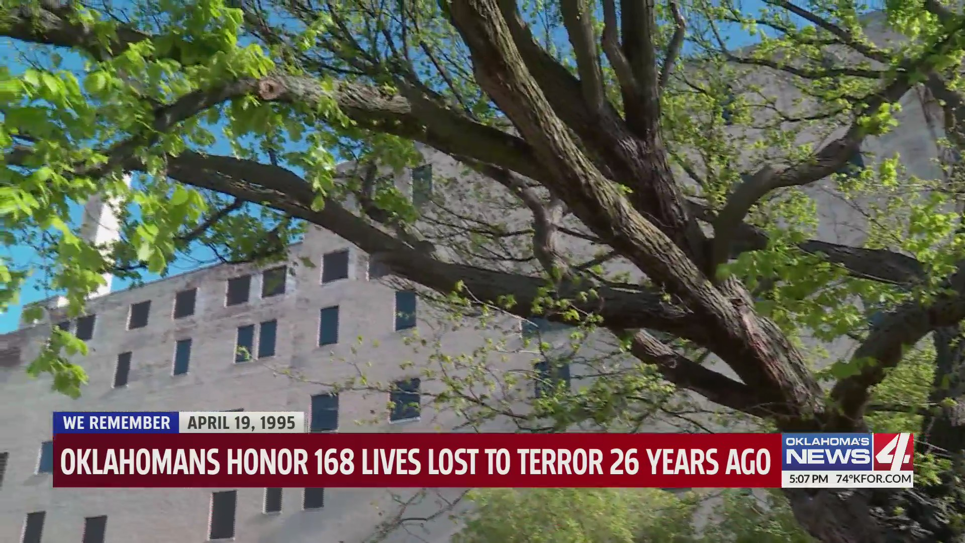 Survivor tree at 26th Annual Remembrance Ceremony held at Oklahoma City National Memorial