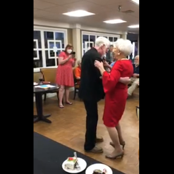 Edmond resident Ava dancing at her 103rd birthday celebration