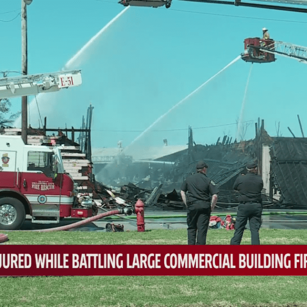 Commercial fire in northeast OKC