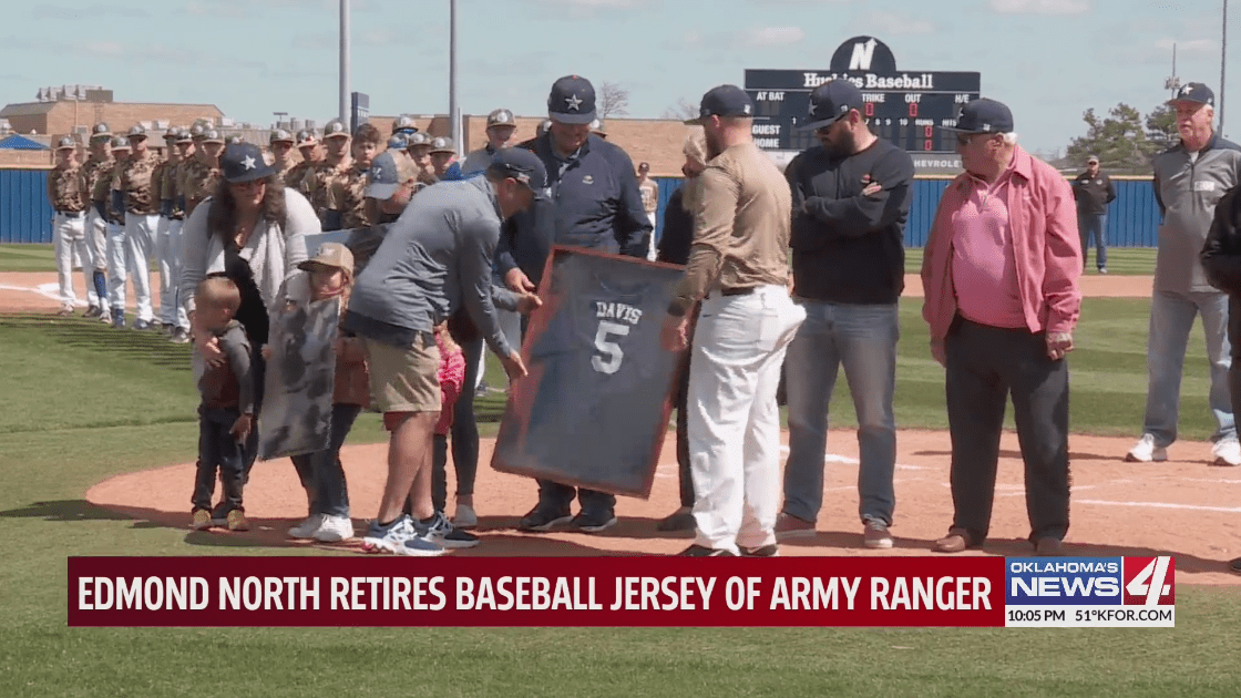 Edmond North baseball jersey retirement