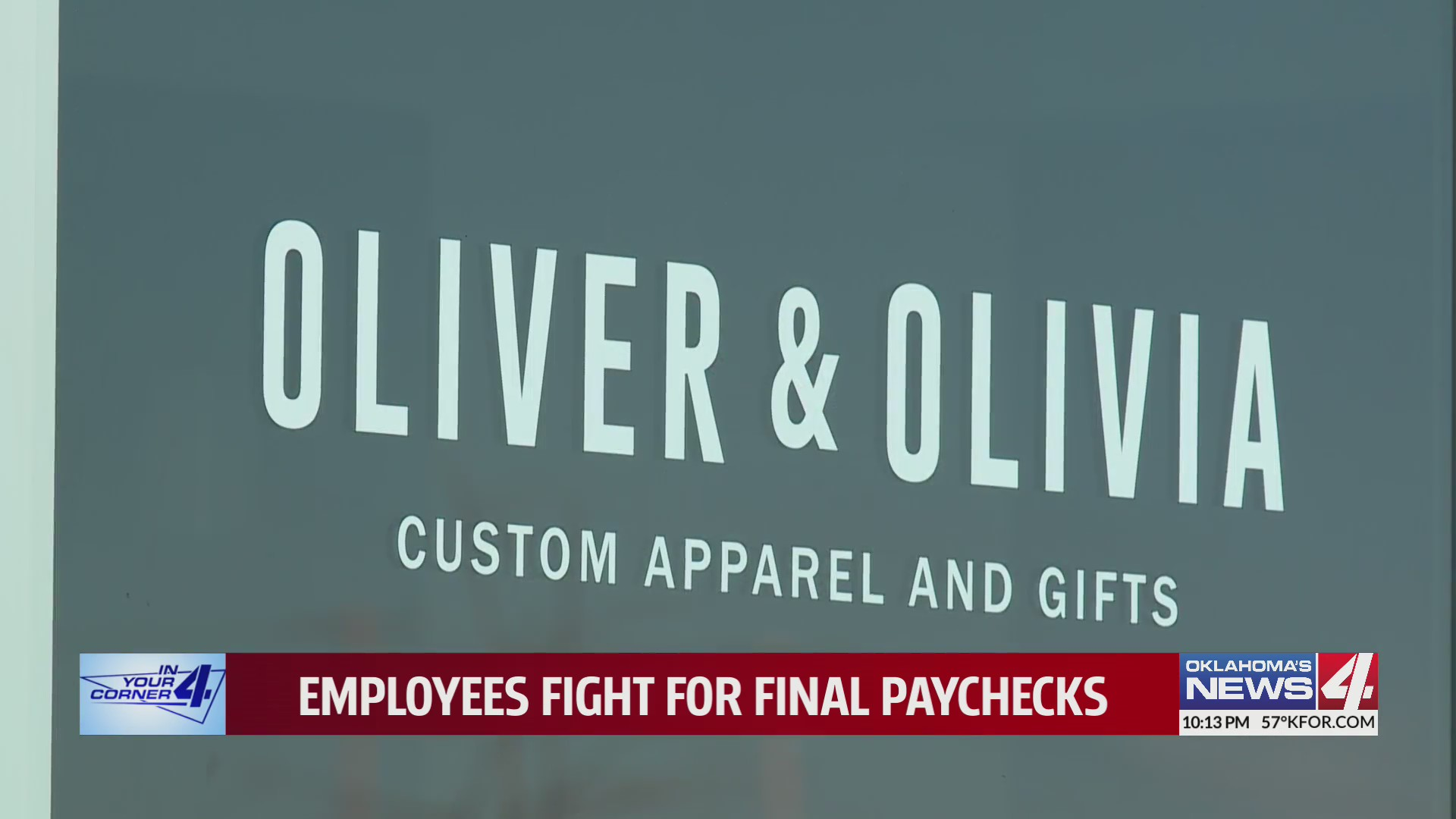 Sign for Oliver and Olivia