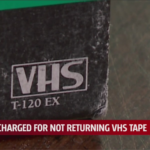 Former Oklahoma resident had unknown charge of felony embezzlement for not returning VHS tape rental 21 years ago