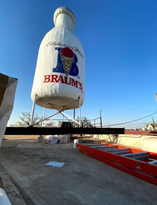 Iconic Braum's milk bottle ad