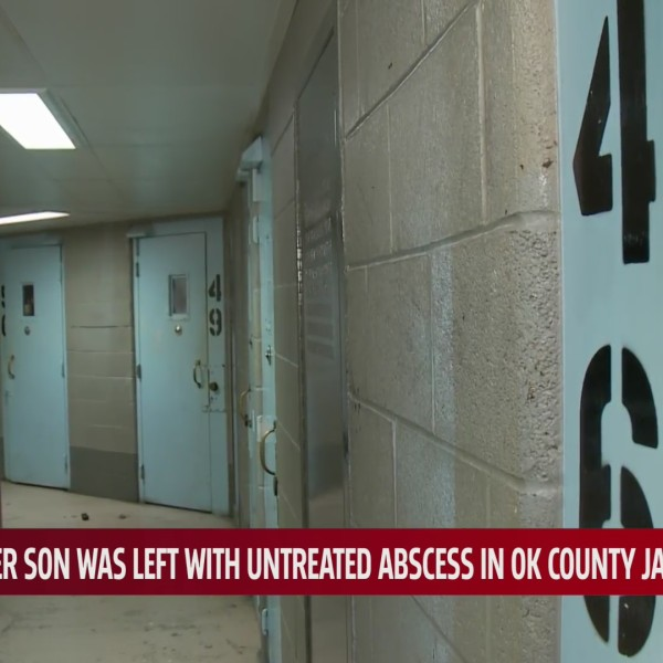 Doors in hallway of Oklahoma County Jail