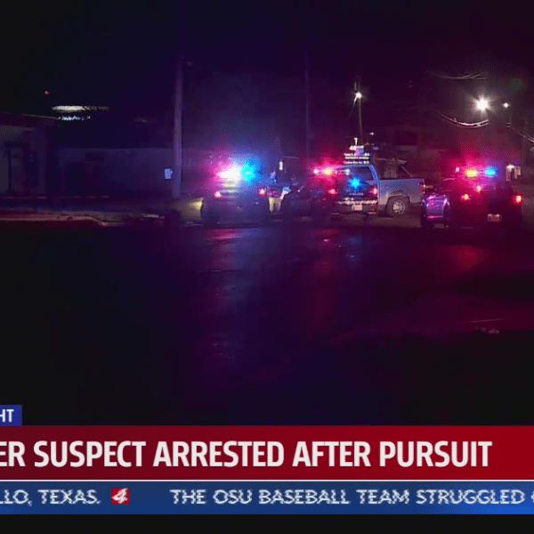 Murder suspect pursuit