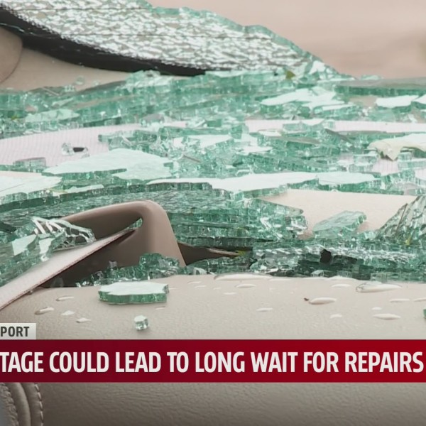 Oklahoma auto repair shops, insurance companies see uptick in reports of shattered windshields, windows after hail storm