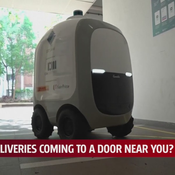 Robot delivering packages
