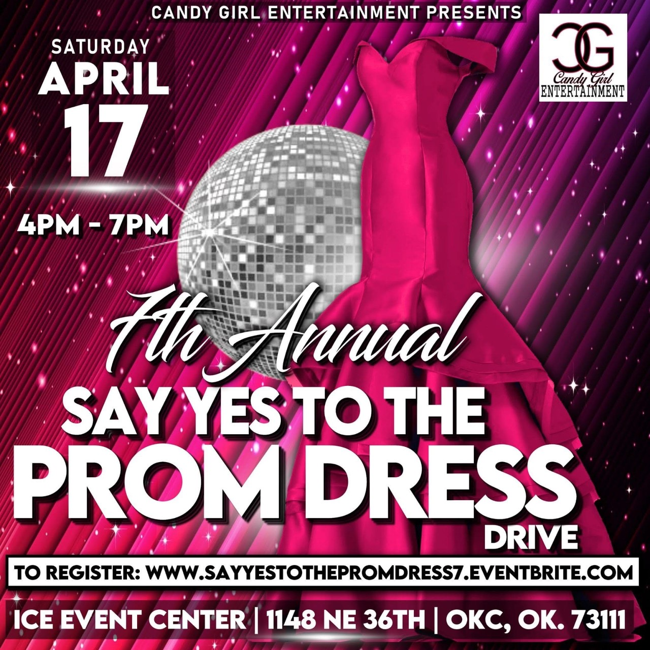Prom dress giveaway flyer