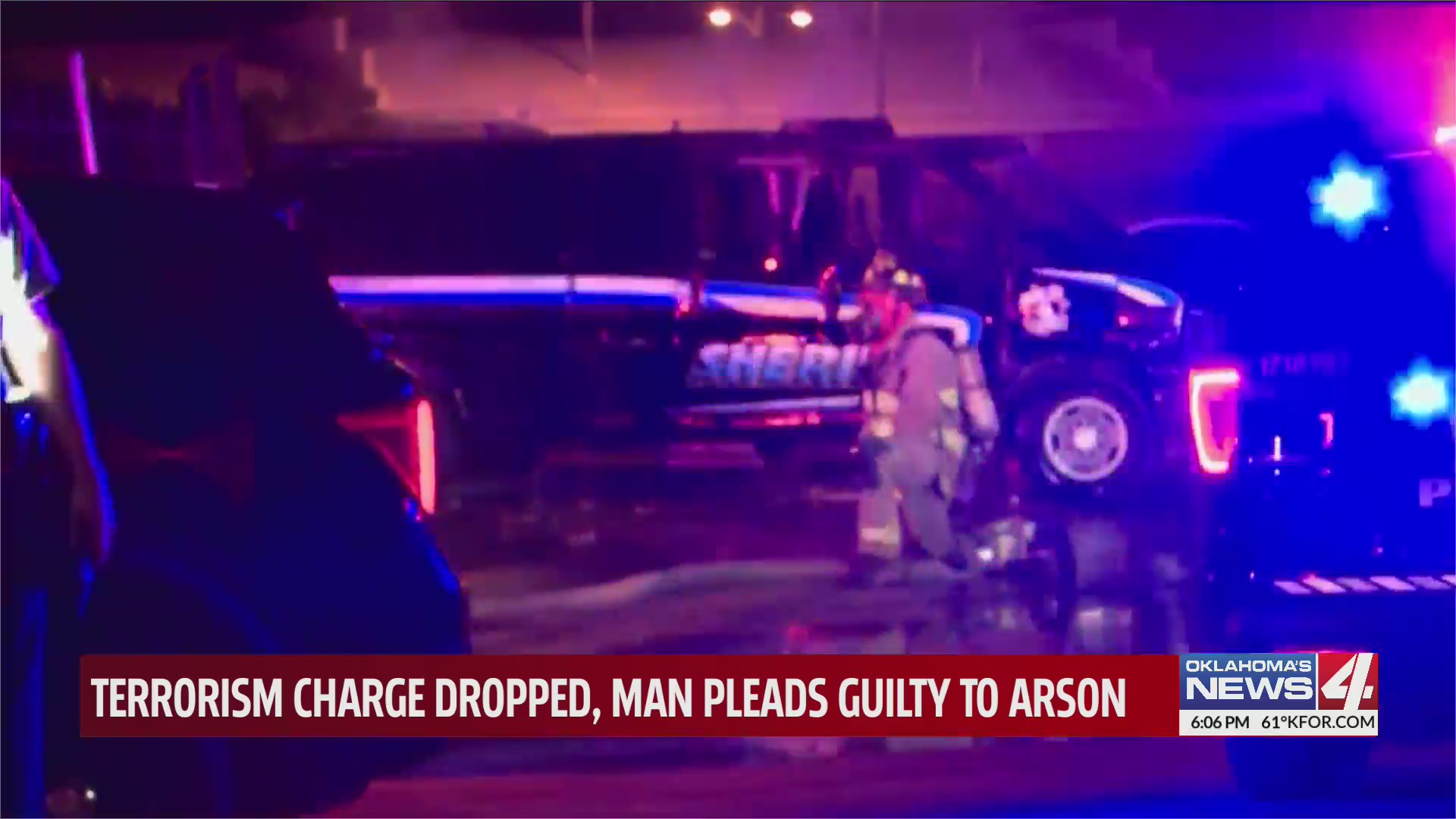 Terrorism charges dropped for Oklahoma City man after sheriff's vehicle damaged