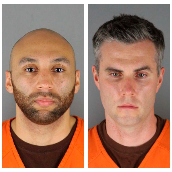 Images of ex-officers charged in George Floyd death