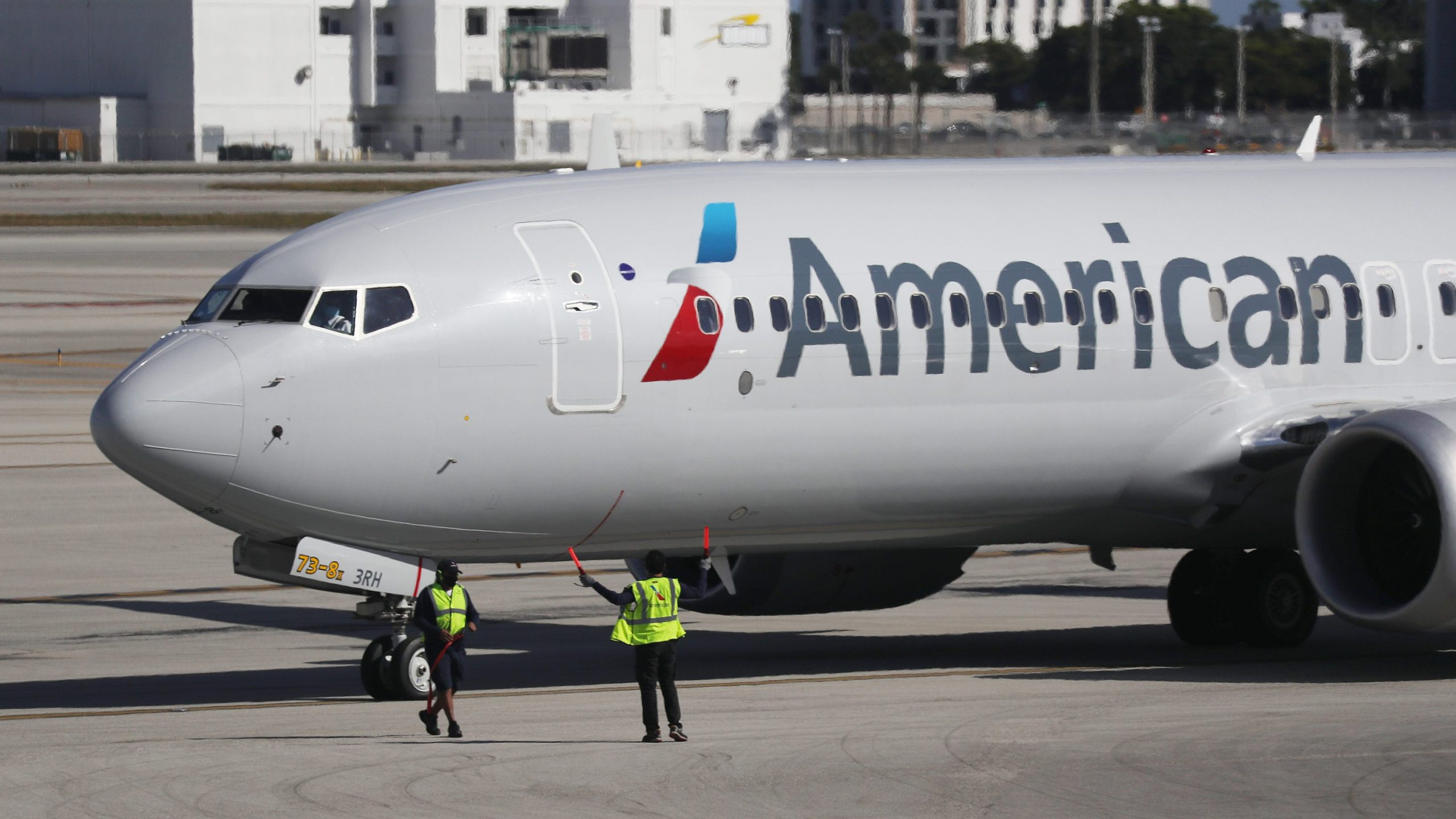 In a memo to flight attendants, American Airlines confirmed it will not be serving alcohol in its main cabin until at least Sept. 13. (Joe Raedle/Getty Images)