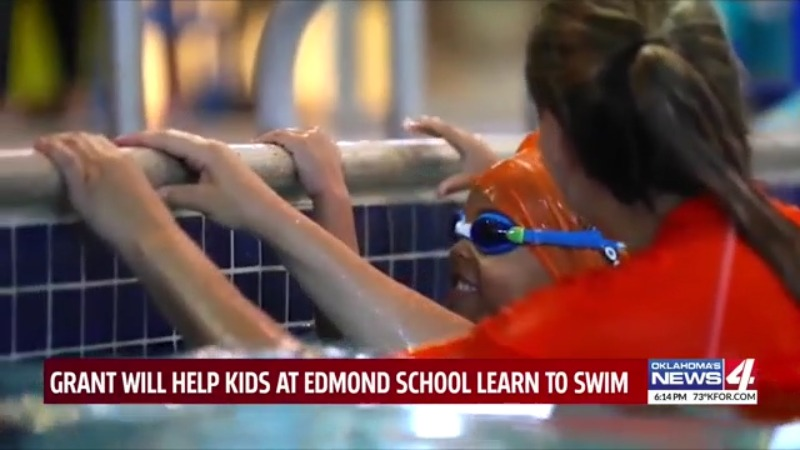 Edmond students receive free swimming lessons through grant