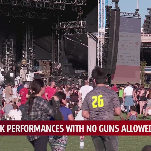 Gun-free zone- A new law could pave way for some outdoor concerts to ban weapons