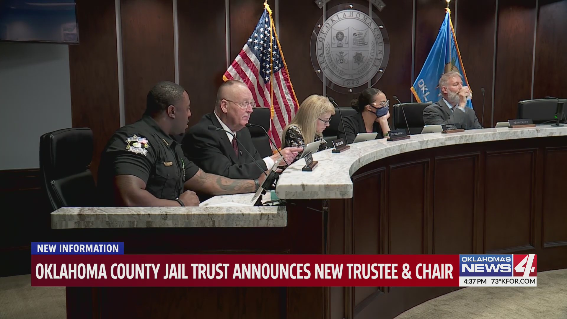 Oklahoma County Jail Trust votes in new Chair, Vice Chair, and trustee