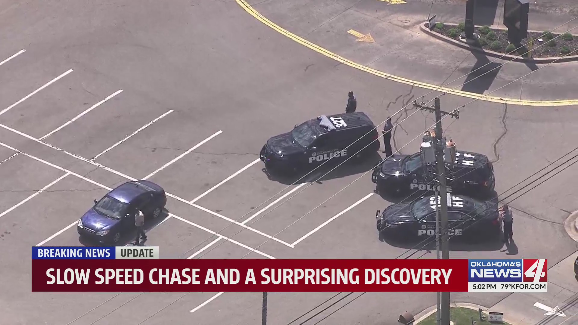 One person arrested after slow-speed chase, police find weapons in car