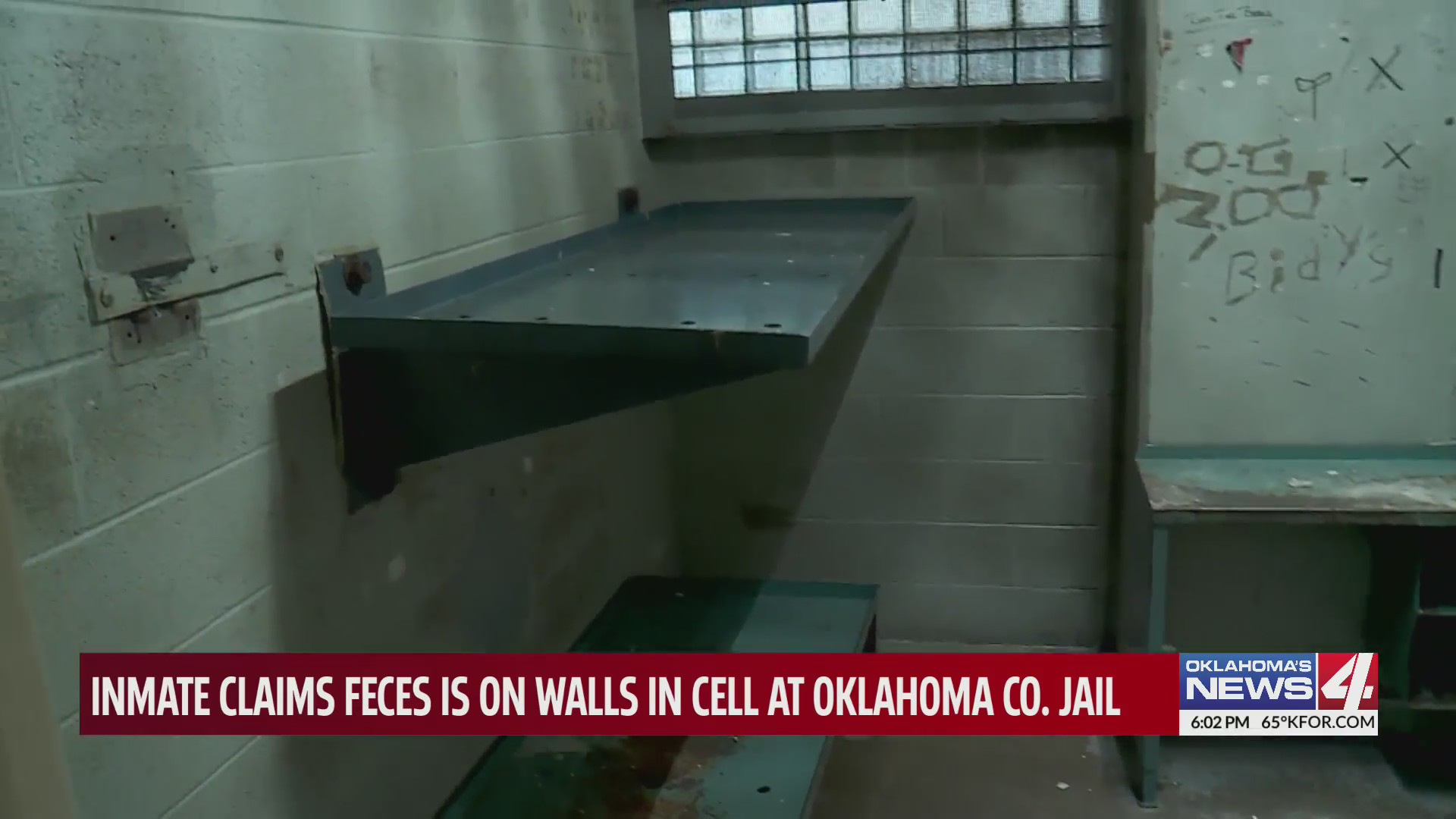 Pregnant Oklahoma County Jail inmate claims she is sleeping in cell filled with feces, black mold and bed bugs
