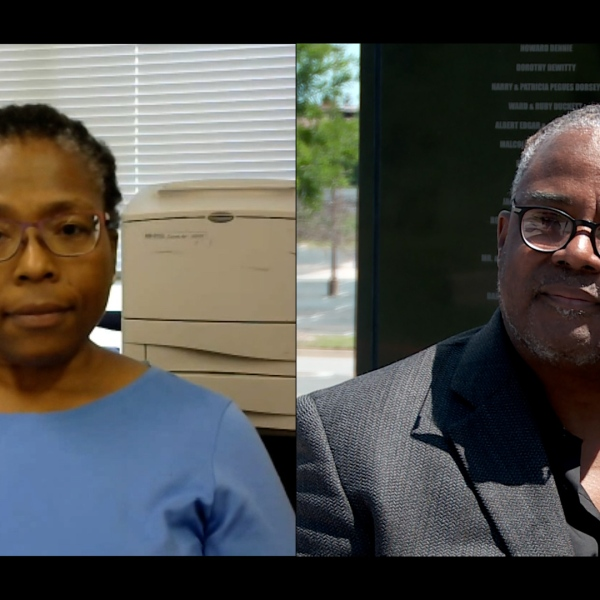 Dr. Phoebe Stubblefield (left) and Kavin Ross (Right)