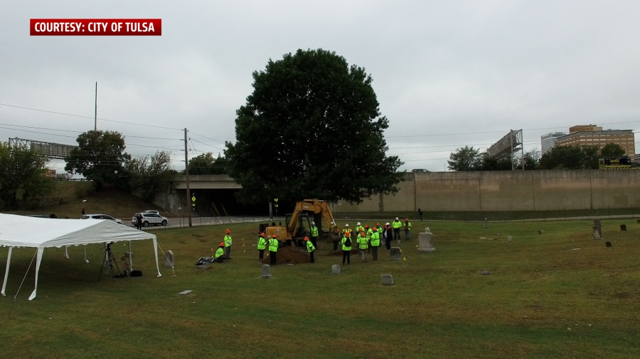 Mass burial site excavation of what is believed to be remains of Tulsa Race Massacre victims in Oaklawn Cemetery (Photo: City of Tulsa)
