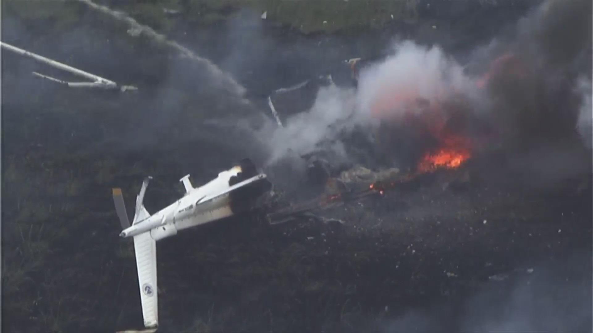image of chopper crash