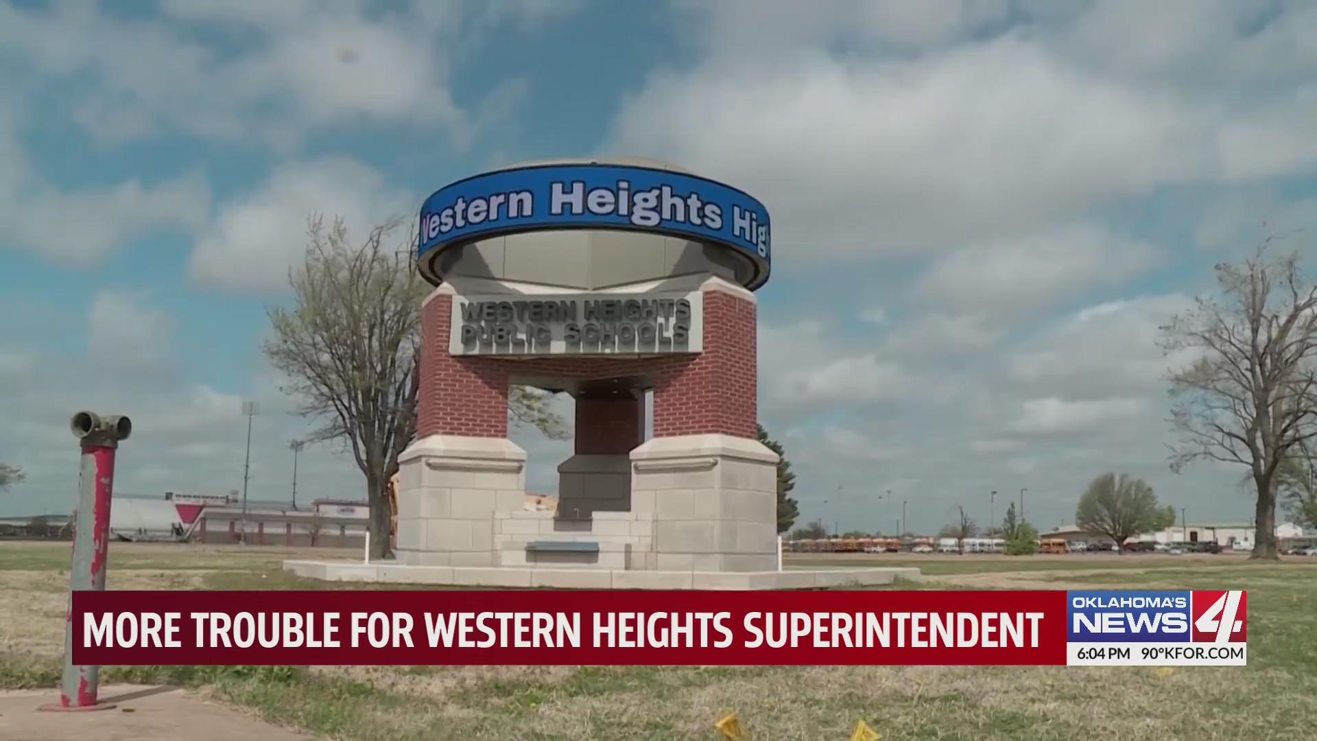 Western Heights school sign