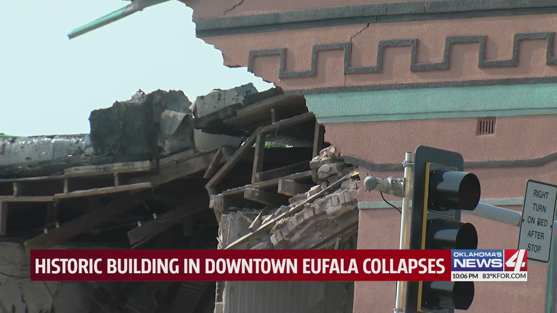 Historic building in downtown Eufaula collapses