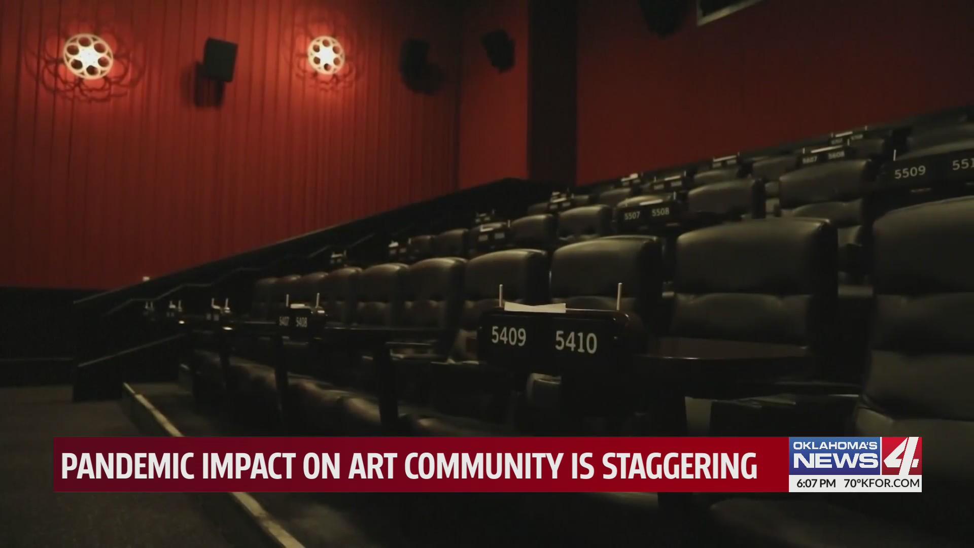 empty seats in movie theatre
