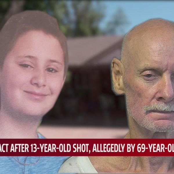 Photo of victim, Chris, and suspect, Michael Swanson