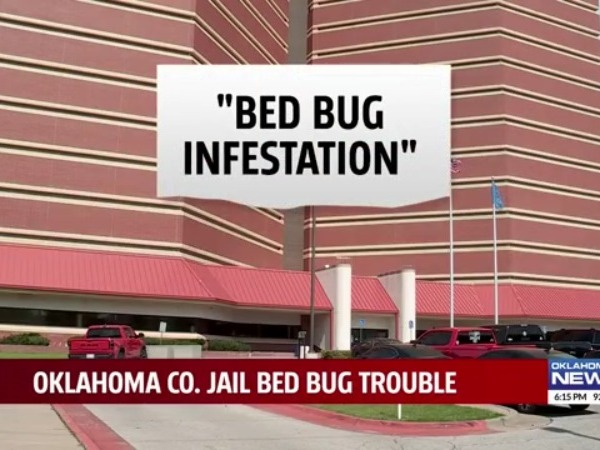 Oklahoma County jail report stating it has a 'bed bug infestation'