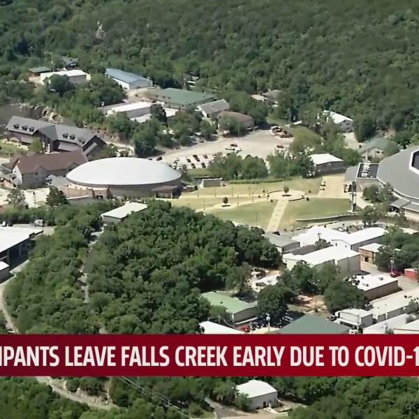 Aerial view of Falls Creek Church Camp