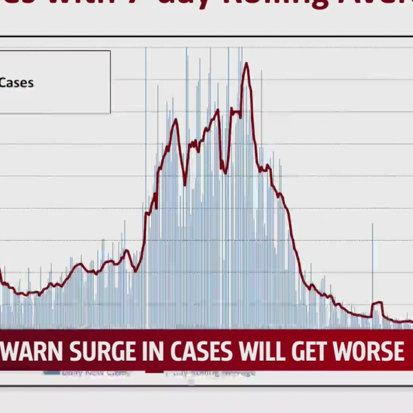 Graph of COVID-19 cases spike in July 2021