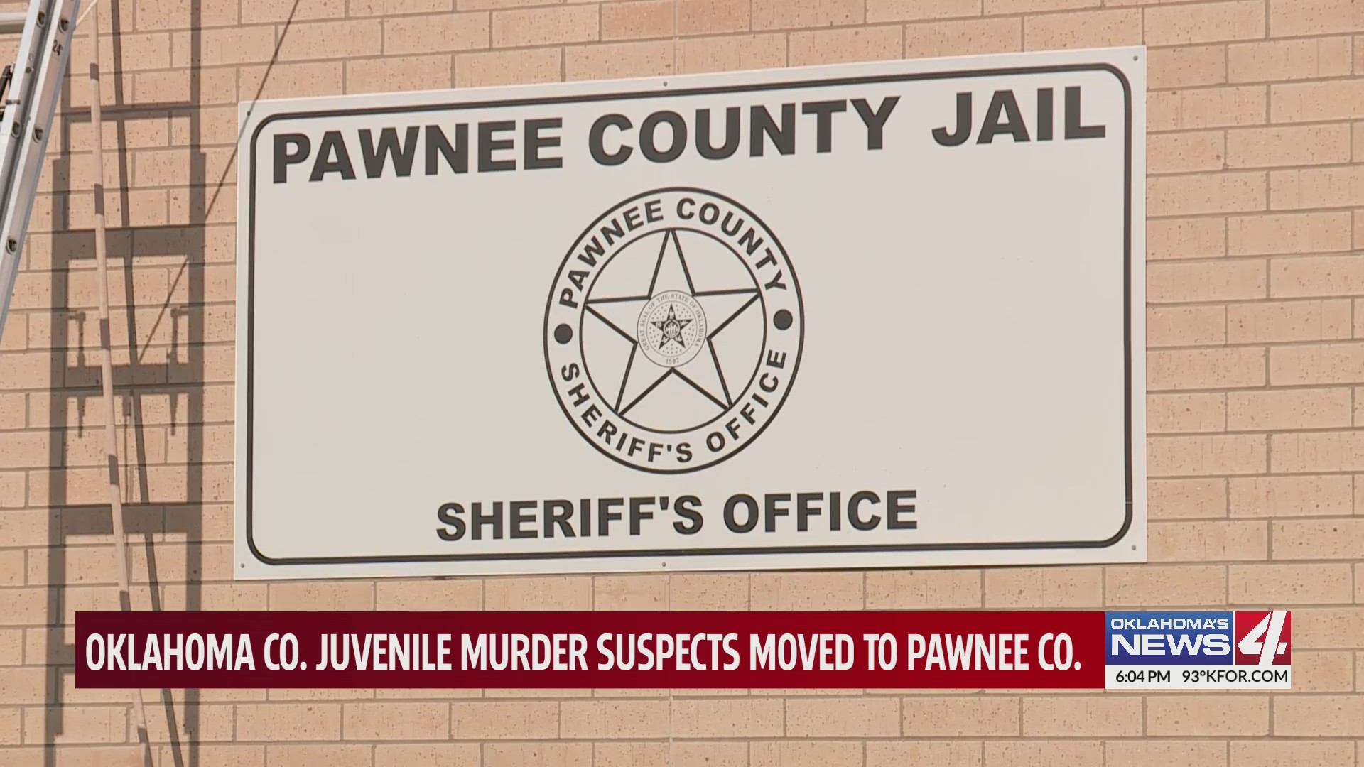 Sign for Pawnee County Jail and Sheriff's Office