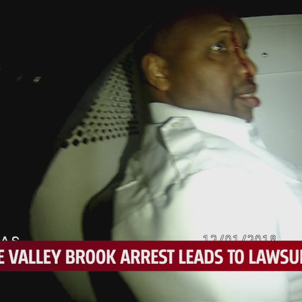 bodycamera footage shows Harold Brown bleed from his head in the back of a Valley Brook police car