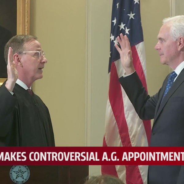 John O'Connor being sworn in as Oklahoma's newest Attorney General