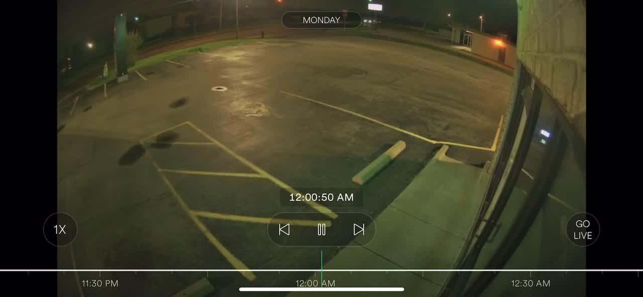 Surveillance footage of hit and run