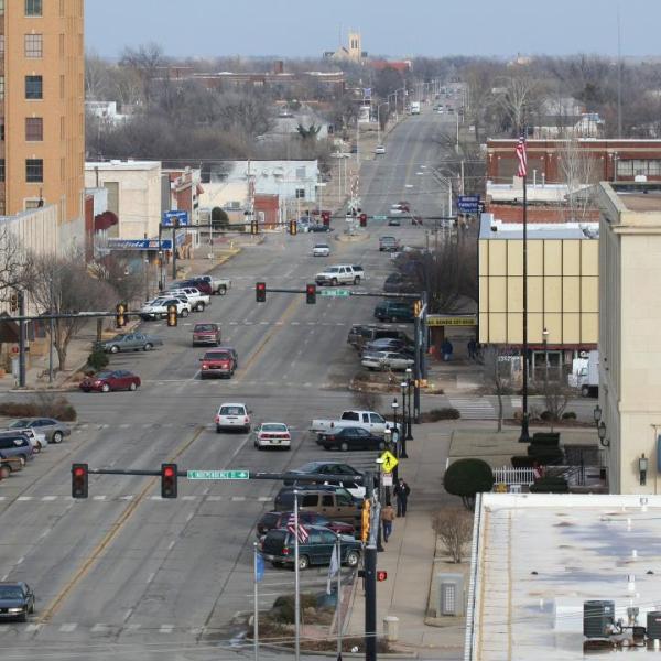 image of an oklahoma town
