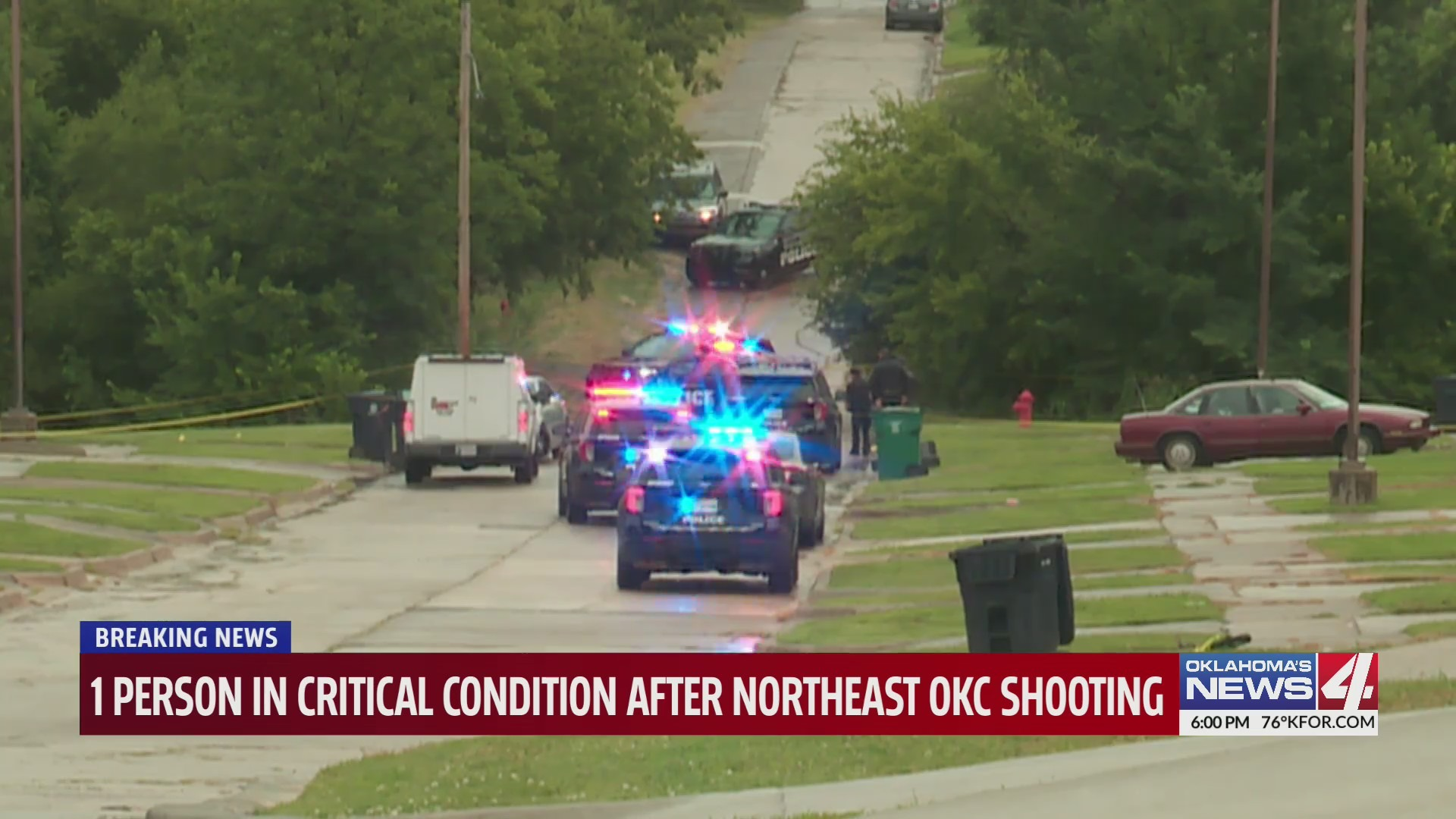 One person is in critical condition following a shooting in Oklahoma City.