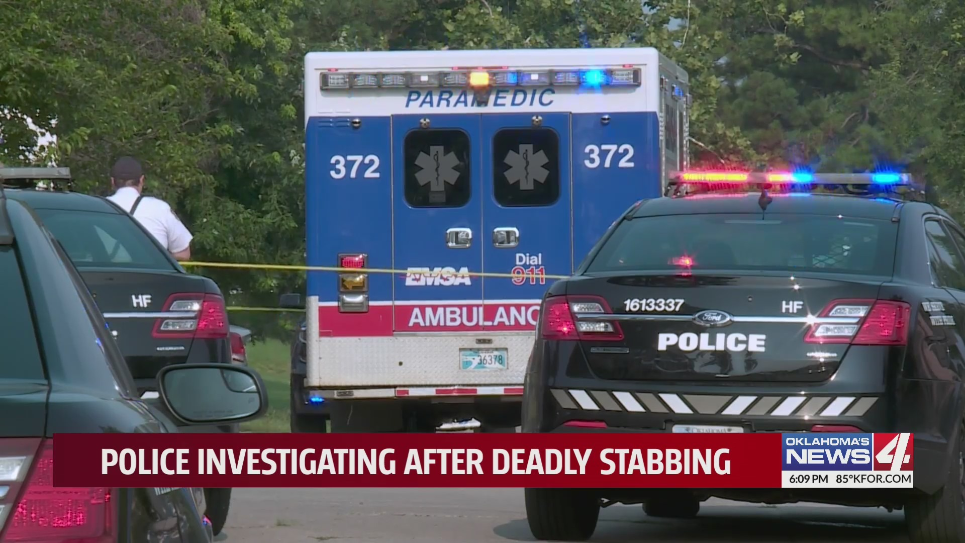 The scene of an early morning stabbing in Oklahoma City.
