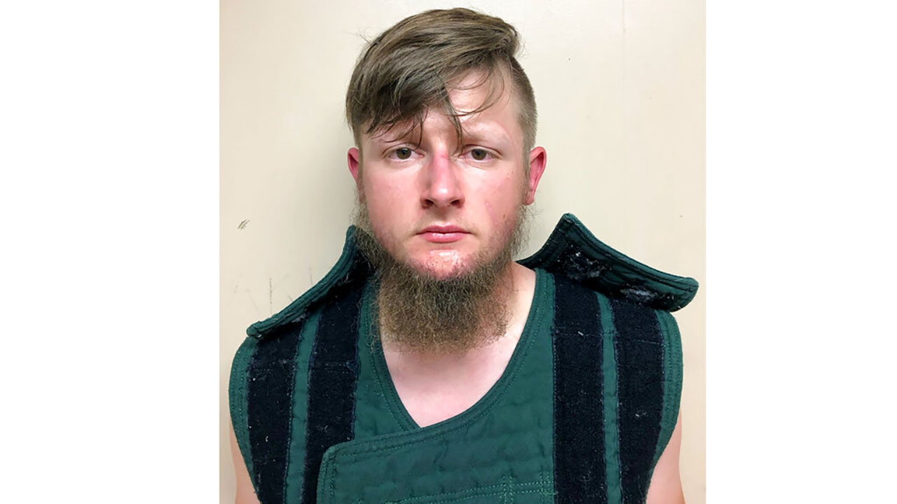 booking photo provided by the Crisp County, Ga., Sheriff's Office shows Robert Aaron Long