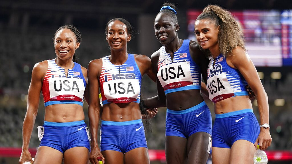 image of USA women's track