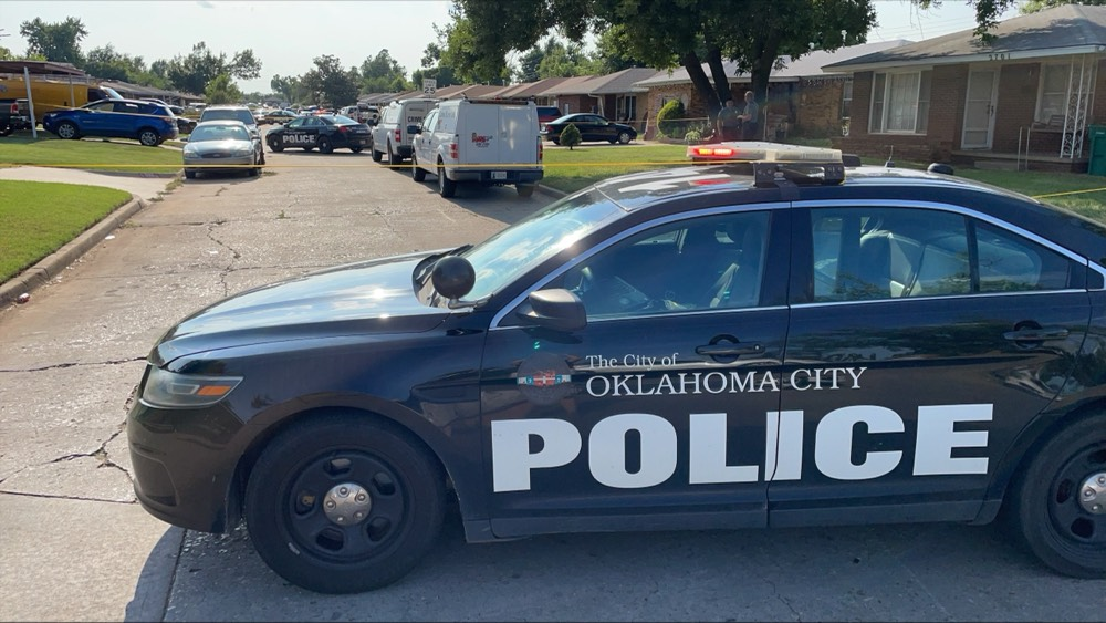 The scene of a double homicide in Oklahoma City.